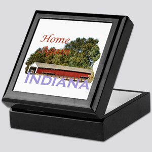 Home Again Indiana Keepsake Box